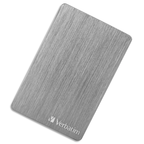 Code 207633, Désignation: VERBATIM Disque dur 2,5'' USB 3.2 Alu Slim 2To Gris Anthracite 53665